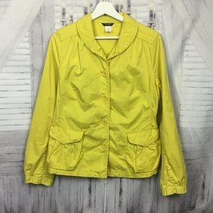 J Crew Jacket Bright Yellow Button Up 8